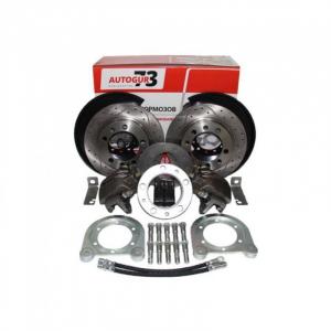 Дисковые тормоза с перфорированными дисками УАЗ задний мост Тимкен/Спайсер (универсальные) Autogur73