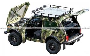 Экспедиционный багажник Нива (ВАЗ 21214 и ВАЗ 2131) с алюминиевым листом