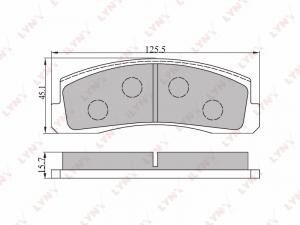 Колодки тормозные дисковые на Шевроле Нива передние LYNX  BD-4602