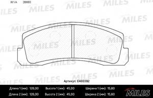Колодки тормозные дисковые на Шевроле Нива передние MILES E400392