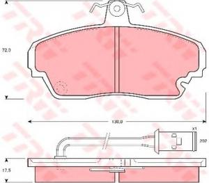 Колодки тормозные дисковые передние ГАЗ 3302, 3110, PARAUT, H281417Y