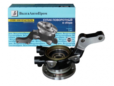 Кулак поворотный левый 2108 с подшипником и ступицей в сборе 2108-3001015СБ