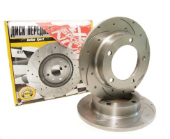 Передние тормозные диски АТС-SPORT 2121- 05 перфорация и насечки