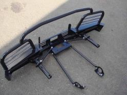 Силовой бампер Нива передний с площадкой для лебедки